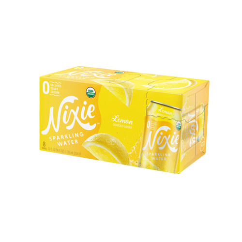 Nixie Sparkling Water - Sparkling Water Lemon - Case Of 3 - 8/12 Fz