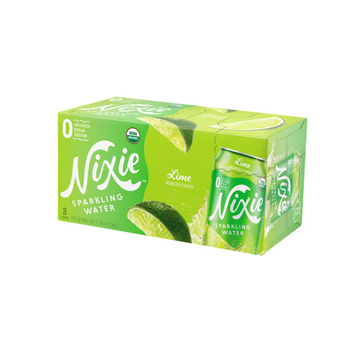 Nixie Sparkling Water - Sparkling Water Lime - Case Of 3 - 8/12 Fz