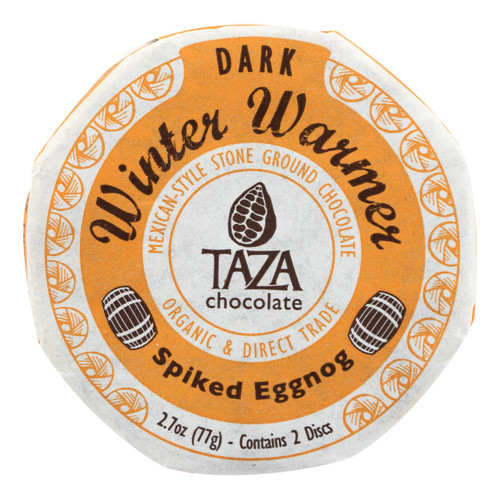 Taza Chocolate - Chocolate Disk Spk Eggnog - Case Of 12 - 2.7 Oz
