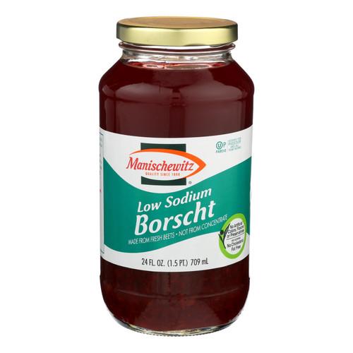 Manischewitz Low Sodium Borscht - Case Of 12 - 24 Fz