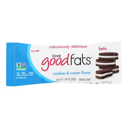 Love Good Fats - Bar Cookies&cream - Case Of 12 - 1.38 Oz