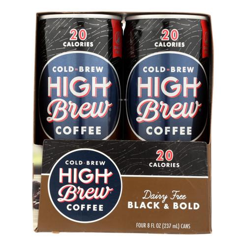 High Brew Coffee - Coffee Rtd Black & Bold Sugar Free - Case Of 6-4/8 Fz