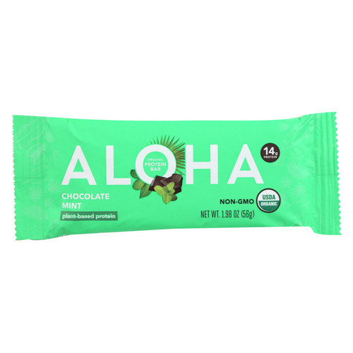Aloha (bars) - Prtn Bar Og2 Choc Mint - Cs Of 12-1.9 Oz