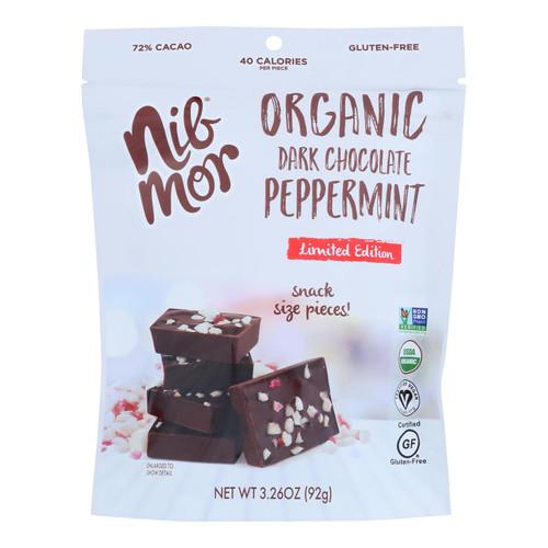 Nibmor - Dark Chocolate Pprmt Snack Bag - Case Of 6 - 3.26 Oz