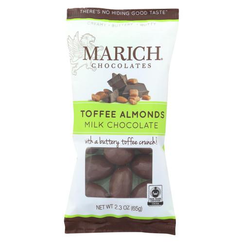 Marich Milk Chocolate Toffee Almonds  - Case Of 12 - 2.3 Oz