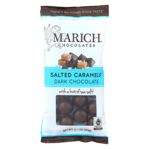 Marich Dark Chocolate Sea Salt Caramels  - Case Of 12 - 2.1 Oz