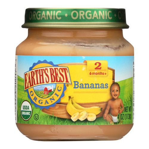 Earth's Best - Bananas - Case Of 10-4 Oz