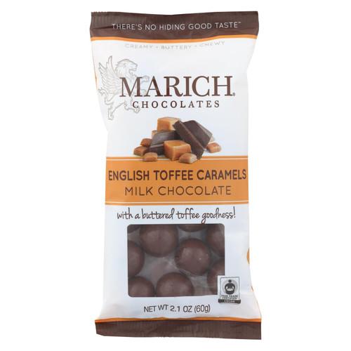 Marich English Toffee Milk Chocolate Caramels  - Case Of 12 - 2.1 Oz