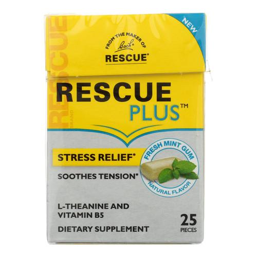 Rescue - Plus Stress Rlf Gum Mint - Case Of 10 - 25 Ct