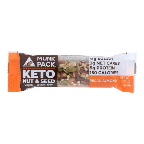 Munk Pack - Keto Nt&sd Pecan Almond - Case Of 12 - 1.23 Oz