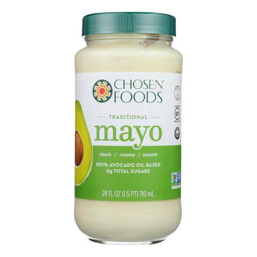 Chosen Foods - Mayo Avocado Oil Traditnl - Case Of 6-24 Fz