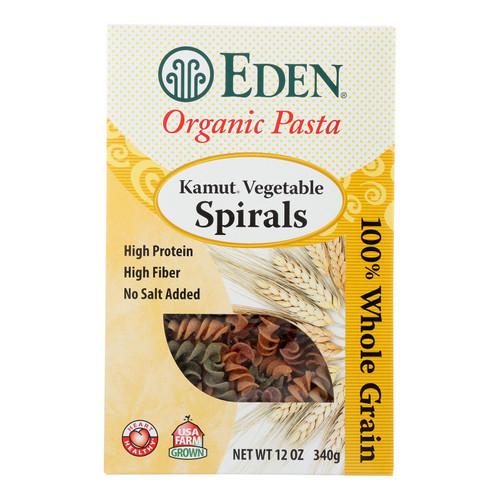 Eden Foods - Spirals Organic Kamut Vegetable - Case Of 6 - 12 Oz