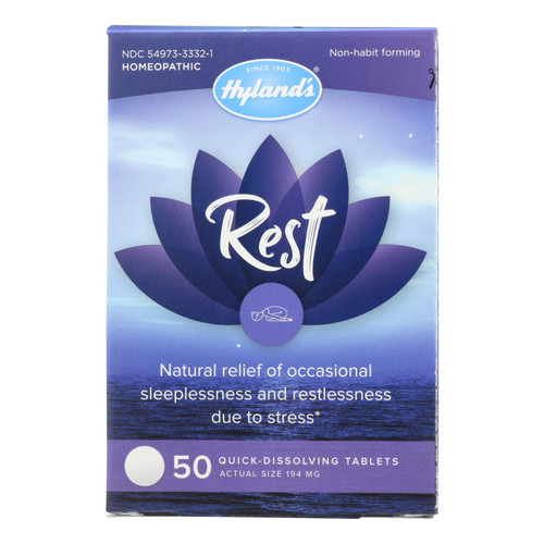 Hylands Homeopathic - Rest Tablets - 1 Each - 50 Tab