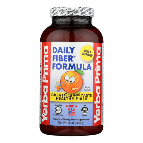 Yerba Prima Daily Fiber Formula, Orange Flavor  - 1 Each - 16 Oz