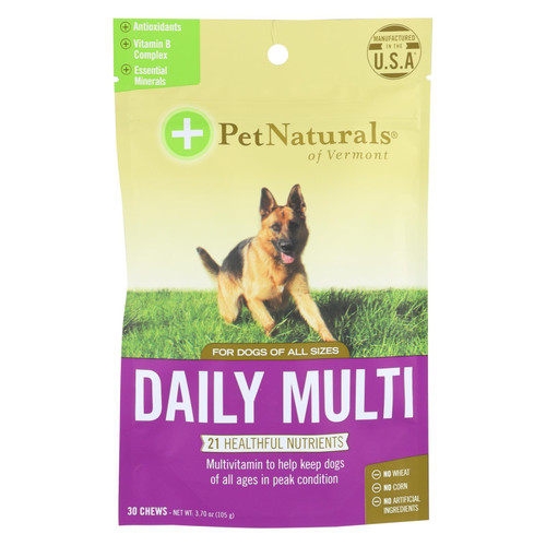 Pet Naturals Of Vermont Daily Multi Dog Chews  - 1 Each - 30 Ct