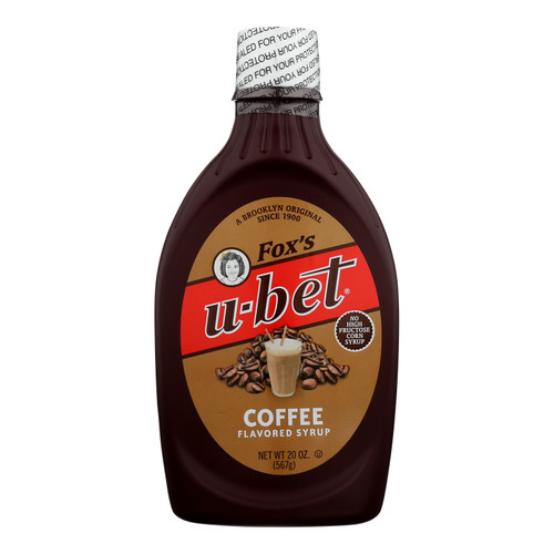Fox's U - Bet Coffee Syrup - Coffee - Case Of 12 - 20 Oz