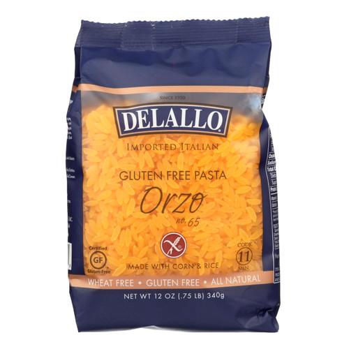 Delallo Gluten-free Orzo Pasta  - Case Of 12 - 12 Oz