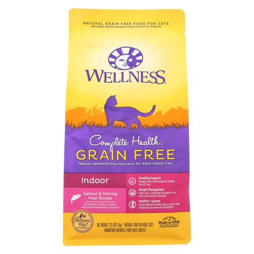 Wellness Pet Products - Cat Dry Indoor Slmn Herrg - Case Of 6 - 2.25 Lb