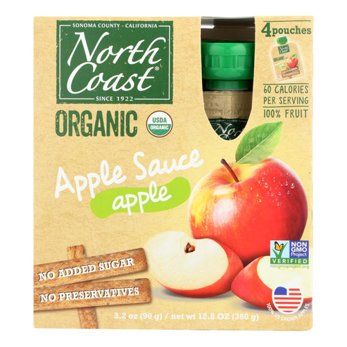 North Coast - Applesauce Pouch - Case Of 6 - 4/3.2 Oz