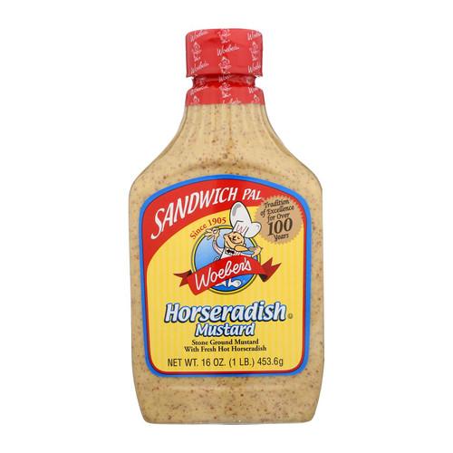 Woeber's, Sandwich Pal, Mustard, Horseradish - Case Of 6 - 16 Oz