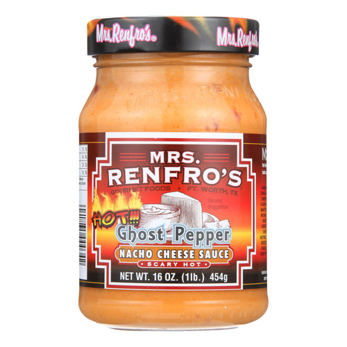 Mrs. Renfro Ghost Pepper Nacho Cheese Sauce  - Case Of 6 - 16 Oz