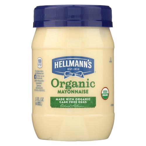 Hellman's Organic Mayonnaise  - Case Of 6 - 15 Fz