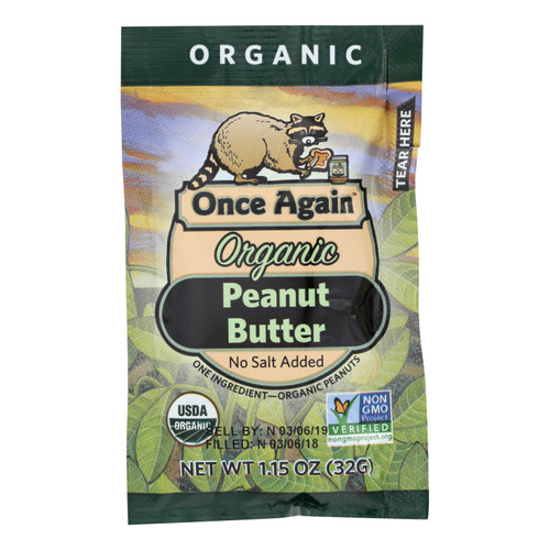 Once Again Organic Peanut Butter  - Case Of 10 - 1.15 Oz