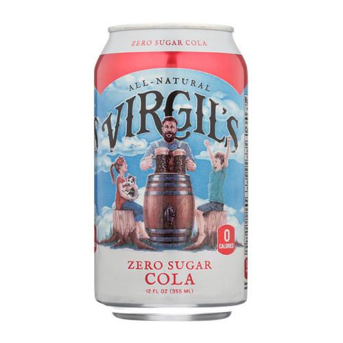 Virgil's Rootbeer - Soda Zero Sugar Cola - Case Of 4 - 6/12 Fz