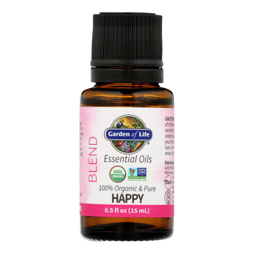 Garden Of Life - Ess Oil Organic Happy Blend - 1 Each-.5 Fz