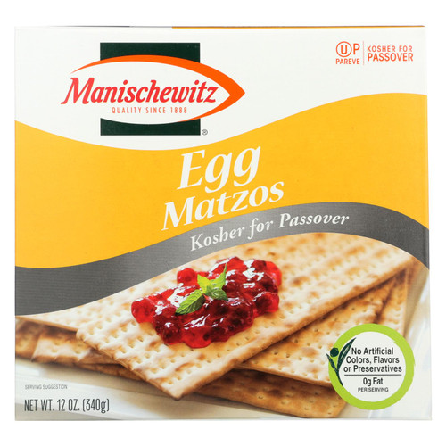 Manischewitz - Egg Matzo - Passover - Case Of 24 -12 Oz.