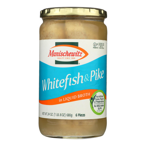 Manischewitz Whitefish & Pike - Case Of 12 - 24 Oz - 0864660