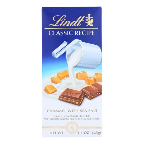 Lindt, Lindor, Milk Chocolate, Caramel With Sea Salt - Case Of 12 - 4.4 Oz