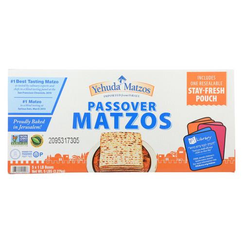 Yehuda Matzo Regular - Passover - Case Of 6 - 5 Lb.