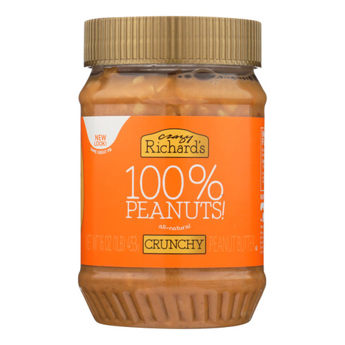 Crazy Richard's All-natural Crunchy Peanut Butter  - Case Of 12 - 16 Oz