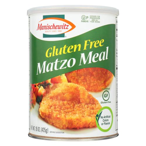 Manischewitz - Matzo Meal - Gluten Free - Case Of 12 - 15 Oz