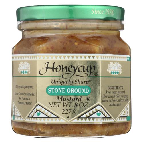 Honeycup Mustard - Stone Ground - Case Of 6 - 8 Oz. - 0787788