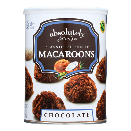 Absolutely Gluten Free Macaroons - Chocolate - Clasc - Case Of 6 - 10 Oz