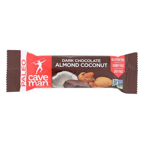Caveman - Nutrition Bar - Dark Chocolate Almond Coconut - Case Of 12 - 1.4 Oz.