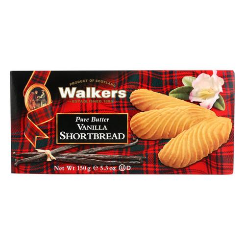Walkers Shortbread Cookie - Shrtbread - Vanilla - Case Of 12 - 5.3 Oz