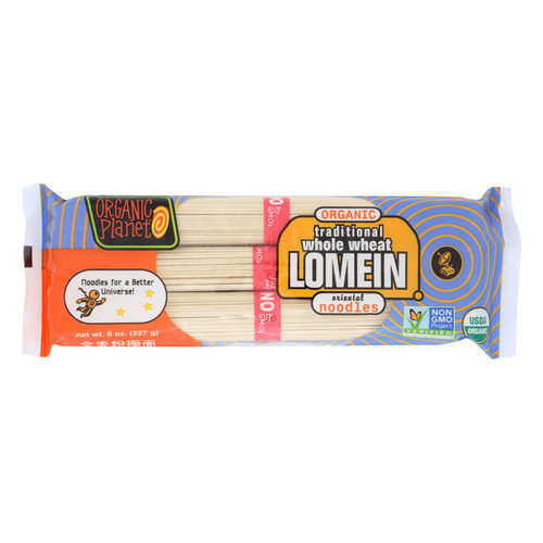 Organic Planet Traditional Whole Wheat Lomein Oriental Noodles - Case Of 12 - 8 Oz.