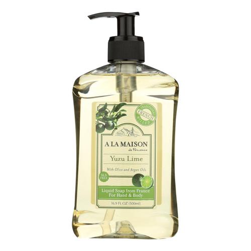 A La Maison De Provence Yuzu Lime Liquid Soap  - 1 Each - 16.9 Fz