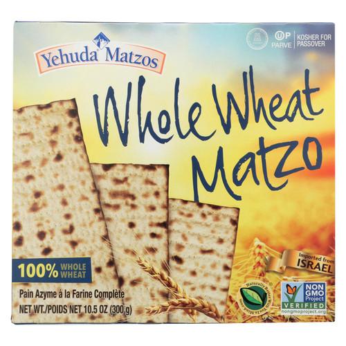 Yehuda Matzo Whole Wheat - Passover - Case Of 24 - 10.5 Oz