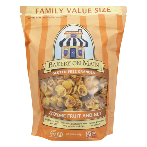 Bakery On Main  Extreme Fruit And Nut Granola Cereal - Case Of 4 - 22 Oz.