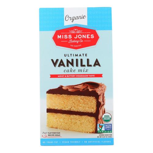 Miss Jones Baking Cake Mix - Vanilla - Case Of 6 - 15.87 Oz.