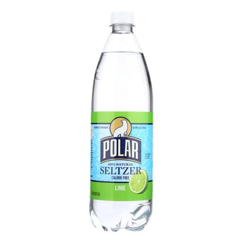 Polar Beverages Seltzer - Lime - Case Of 12 - 33.8 Fl Oz