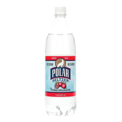 Polar Beverages Seltzer - Pomegranate - Case Of 12 - 33.8 Fl Oz