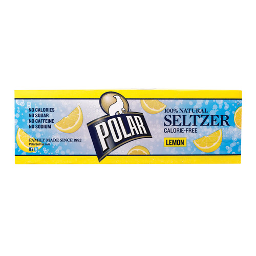 Polar Beverages Seltzer - Lemon - 12 Pk - 12/12 Fl Oz