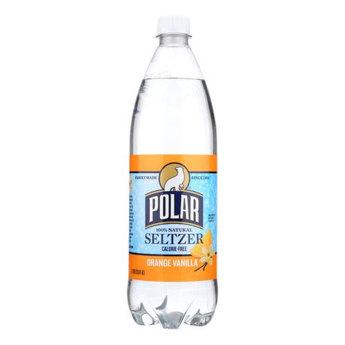 Polar Beverages Seltzer - Vanilla - Case Of 12 - 33.8 Fl Oz - 1871987