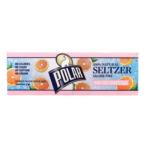 Polar Beverages Soda - Grapefruit - Seltzer - 12/12 Fl Oz