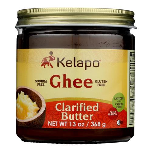Kelapo Ghee (clarified Butter) Amber Glass Jar - Case Of 6 - 13 Oz.